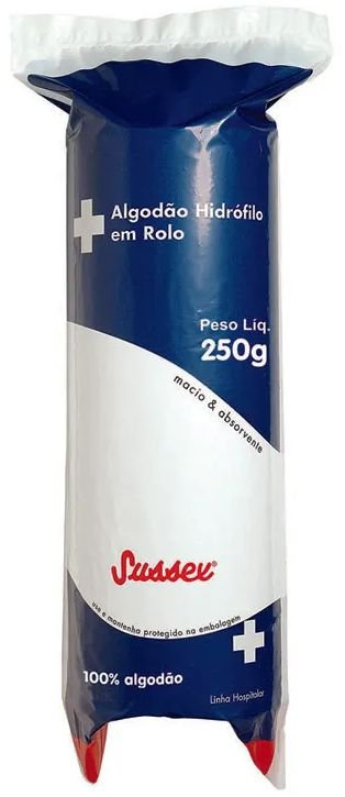 SUSSEX Algodão Hidrófilo em Rolo 250g