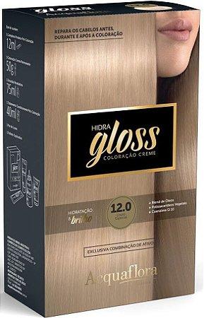 ACQUAFLORA Coloração Permanente Hidra Gloss 12.0 Louro Especial
