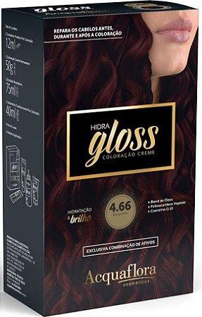 ACQUAFLORA Coloração Permanente Hidra Gloss 4.66 Borgonha