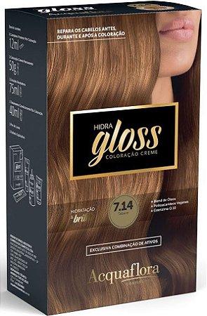 ACQUAFLORA Coloração Permanente Hidra Gloss 7.14 Tabaco