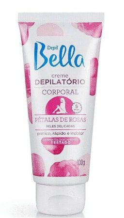 Depil Bella Creme Depilatório Corporal Pétalas de Rosa 100g