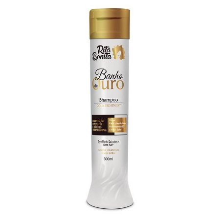 RITA BONITA Banho de Ouro Shampoo Gold Treatment 300ml