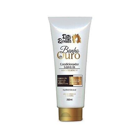RITA BONITA Banho de Ouro Condicionador Leave-in Gold Treatmet 200ml