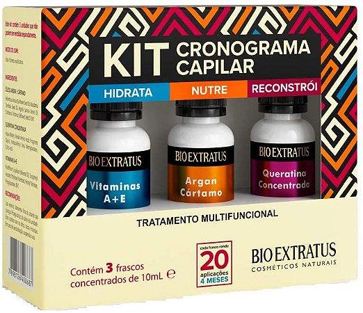 Bio Extratus Kit Cronograma Capilar Tratamento Multifuncional 3x10ml