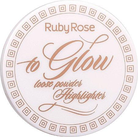 RUBY ROSE Pó Iluminador To Glow HB-7227 cor 2 Fancy