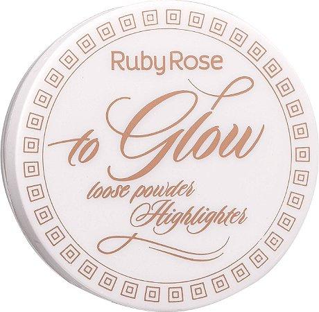 RUBY ROSE Pó Iluminador To Glow HB-7227 cor 5 Hottie