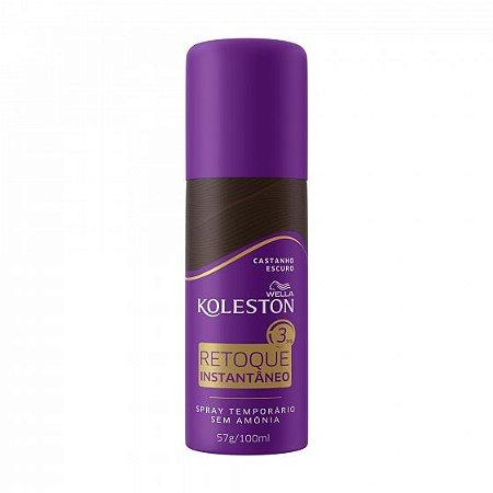 KOLESTON Retoque Instantâneo Castanho Escuro Spray 57g