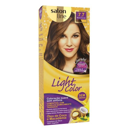 SALON LINE Light Color Tonalizante 7.7 Marrom Dourado