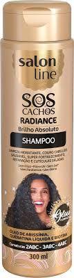 SALON LINE SOS Cachos Radiance Brilho Absoluto Shampoo 300ml
