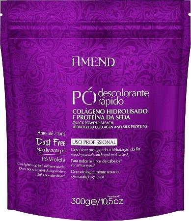 AMEND Pó Violeta Descolorante Rápido com Colágeno Hidrolizado e Proteína da Seda 300g