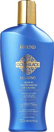AMEND Gold Black Nutritivo Leave-in Disciplinador de Cachos 250ml (vencimento 12/20)
