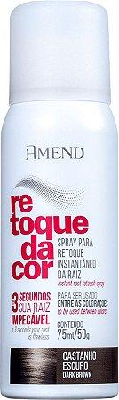 AMEND Retoque da Cor Retoque da Raiz Castanho Escuro Spray 75ml