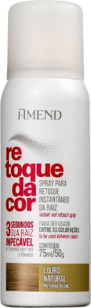 AMEND Retoque da Cor Retoque da Raiz Louro Natural Spray 75ml