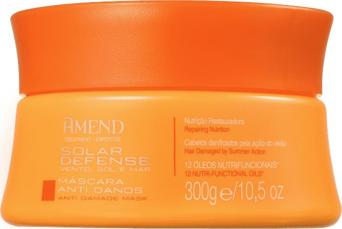 AMEND Solar Defense Máscara Capilar Anti Danos 300g