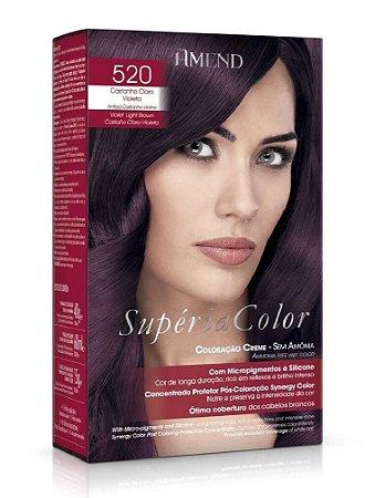 AMEND Supéria Color Tonalizante 520 Castanho Claro Violeta