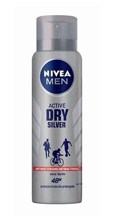 NIVEA MEN Desodorante Antibacteriano Aerosol Active Dry Silver 150ml