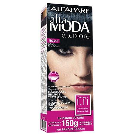 ALTA MODA é ... Colore Coloração Permanente 1.11 Preto Azulado
