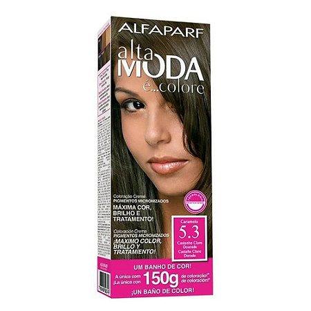 ALTA MODA é ... Colore Coloração Permanente 5.3 Castanho Claro Dourado