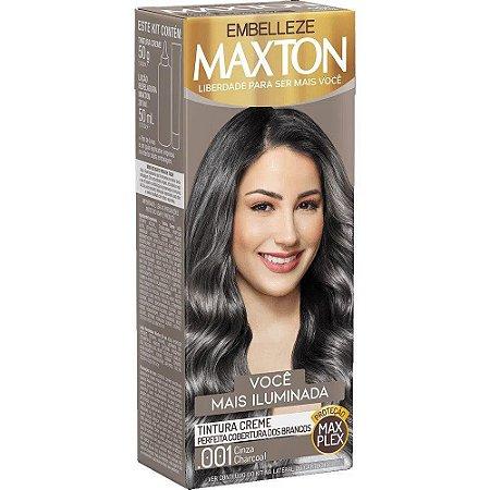 MAXTON Coloração Permanente Kit 001 Cinza Charcoal