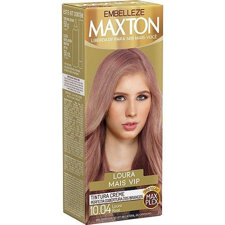 EMBELEZZE Maxton Coloração Permanente Kit 10.04 Louro Rosé