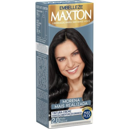 MAXTON Coloração Permanente Kit 2.0 Preto Natural