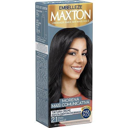 MAXTON Coloração Permanente Kit 2.1 Preto Especial