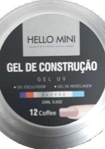 HELLO MINI Gel de Construção UV Padrão Coffee 12 15ml