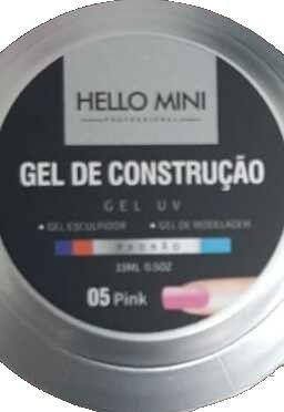 HELLO MINI Gel de Construção UV Padrão Pink 05 15ml