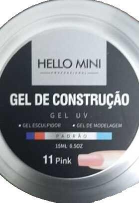HELLO MINI Gel de Construção UV Padrão Pink 11 15ml