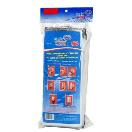 SANTA CLARA Papel Isolmanta com Velcro Costurado Pequeno 18pares (305)