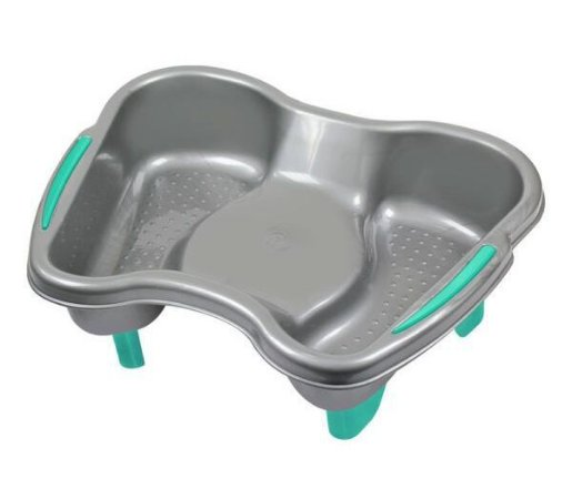 SANTA CLARA Bacia para Pedicure Plástica com Pedestal Ref.694 Cinza (9632)
