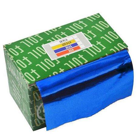 SANTA CLARA Papel Alumínio com 16 Micras Azul em Rolo importado (2462)