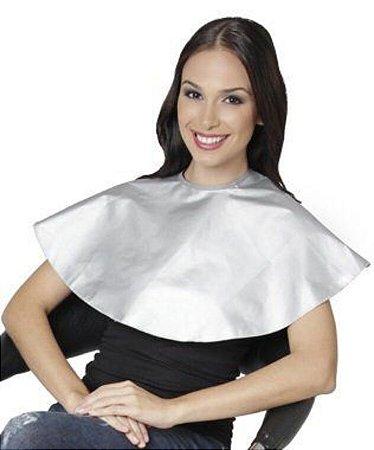 SANTA CLARA Penteador Redondo Com Velcro em Nylon Ref.06 Branco (9732)