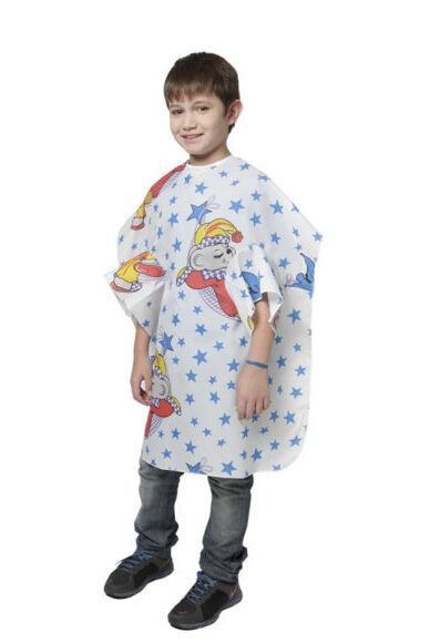 SANTA CLARA Capa para Corte Infantil Com Manga com Velcro em Nylon Estampado (033)