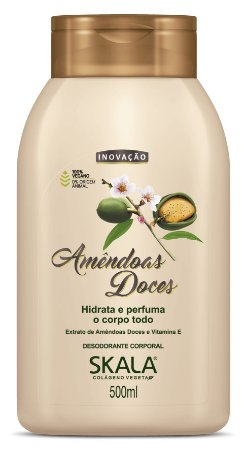 SKALA Desodorante Corporal Hidratante Vegano de Amêndoas Doces 500ml