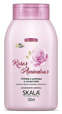 SKALA Desodorante Corporal Hidratante Vegano de Rosas e Amêndoas 500ml