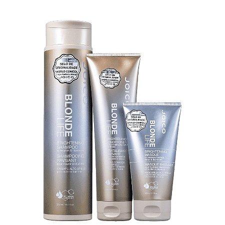 JOICO Blonde Life Kit Shampoo 300ml + Condicionador 250ml + Máscara Capilar Iluminadora 150ml