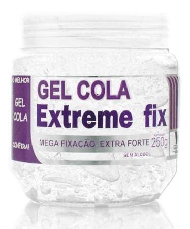 VIP HAIR Gel Cola Extreme Fix Mega Fixação Extra Forte 250g