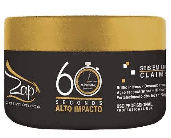 ZAP Máscara Capilar Condicionante 60 seconds Alto Impacto 250g (vencimento 11/2020)