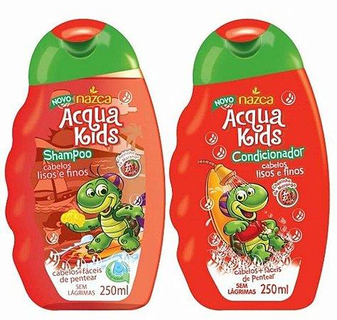 ACQUA KIDS Cabelos Lisos e Finos Kit Shampoo + Condicionador 250ml