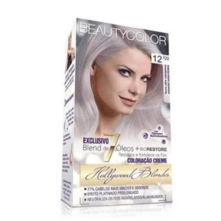 BEAUTYCOLOR Coloração Permanente Kit 12.122 Loiro Ultra Claríssimo Especial Extra Violeta