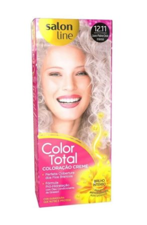 SALON LINE Color Total Coloração Permanente Kit 12.11 Loiro Platino Cinza Intenso