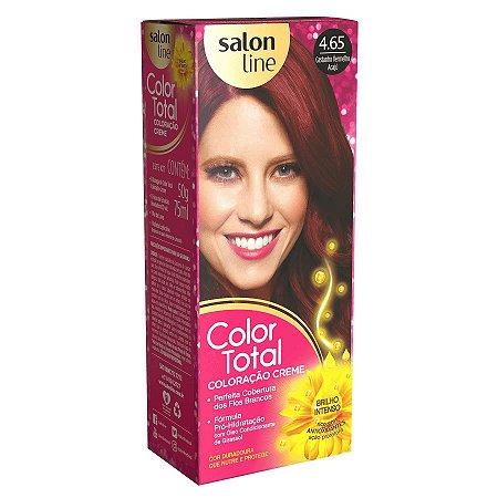 COLOR TOTAL Coloração Permanente Kit 4.65 Castanho Vermelho Acajú