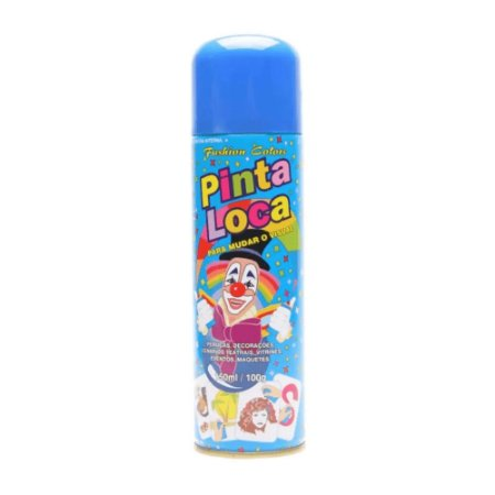 PINTA LOCA Spray para Tintura Decorativa do Cabelo Azul Flash 150ml
