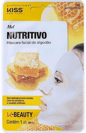 KISS NEW YORK Máscara Facial de Algodão Nutritivo Mel 20ml (KFMS03S)