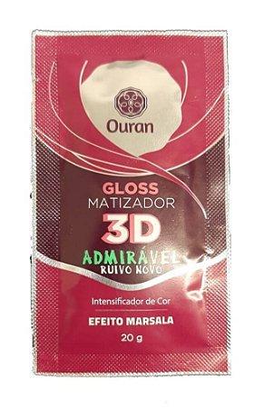 OURAN Gloss Matizador 3D Admirável Ruivo Novo Efeito Marsala 20g