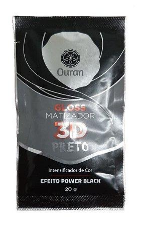 OURAN Gloss Matizador 3D Preto Efeito Power Black 20g