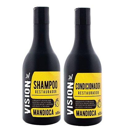 VISION Mandioca Kit Shampoo + Condicionador Restaurador 500ml