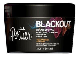PORTIER Blackout Máscara Capilar Especial para Cabelos Pretos 250g