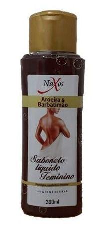 NAXOS Sabonete Líquido Feminino com Aroeira e Babatimão 240ml